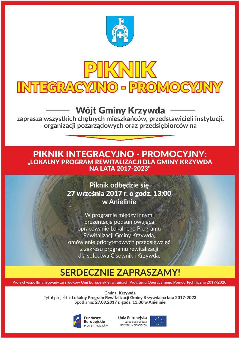 Zaproszenie na Piknik Integracyjno - Promocyjny