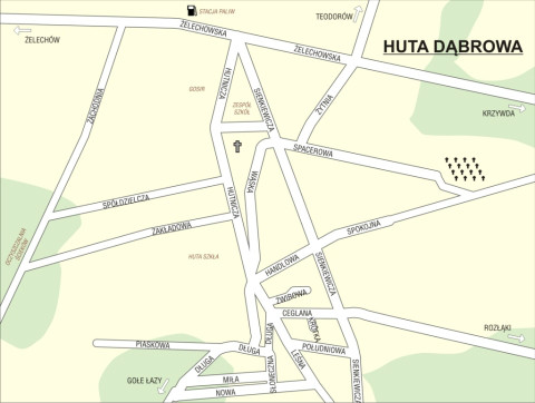 Mapa Huty Dąbrowa