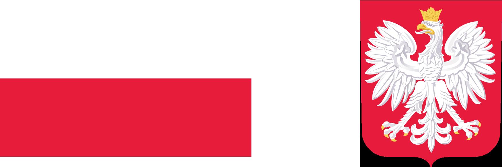 Grafika przedstawiająca flagę i godło RP, wymagane przez zapisy dotyczące promocji Funduszu Dróg Samorządowych